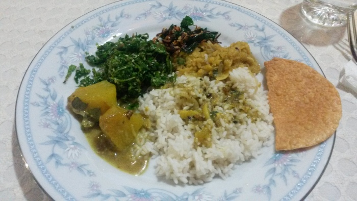 Buddhika Prasanga Reis und Curry zuhause
