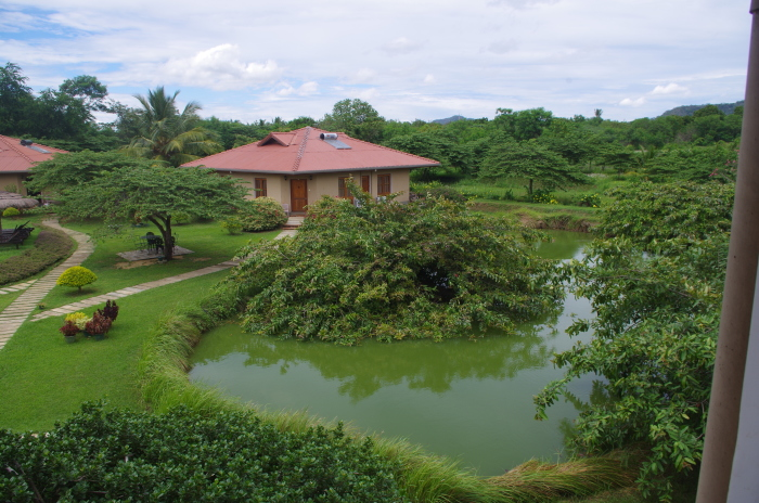 Hotel Hibiscus Garden, Tissa, Garten mit See