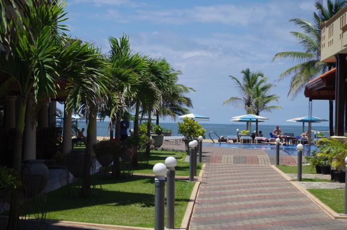 Hotel Rani Beach Resort, Negombo, Blick aufs Meer