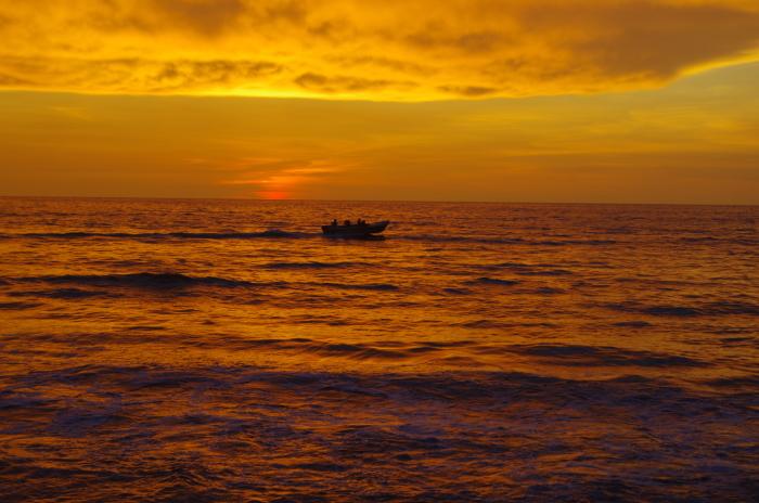 Sonnenuntergang, Negombo Beach